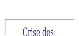 Crise des subprimes : mecanisme de crise et contagion