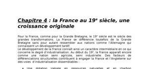 La France au 19e siècle, une croissance originale