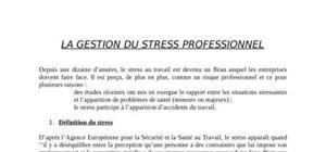 Gestion du stress professionnel