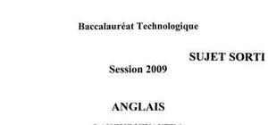 Sujet bac stg 2009 anglais lv1
