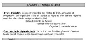 Notion de droit