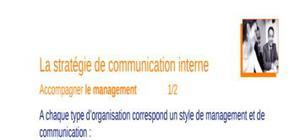 La stratégie de la communication interne