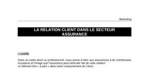 La relation client dans le secteur de l'assurance