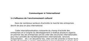 Communiquer à l'international