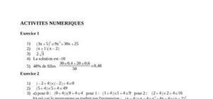 Corrigé brevet 2007 mathématiques