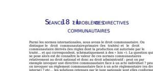 Le problème des directives communautaires en droit administratif