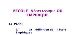 L'école  néoclassique