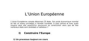 L'Union Européenne 1ère ES