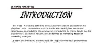 Trade marketing : concepts et fondements