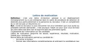 Lettre de motivation méthode