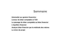 Généralités sur la gestion financière
