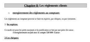 Les règlements clients