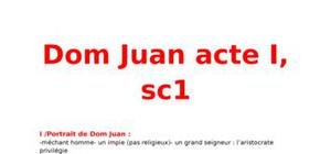 Dom Juan Acte 1 - Scène 1