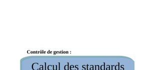Calcul des coûts standards indirects