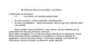 La culture : de l'état de nature à la société