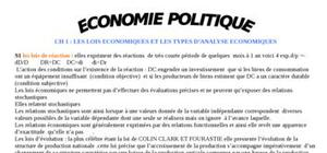 Initiation à l'economie politique