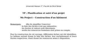 Exercice en planification et suivi de projet