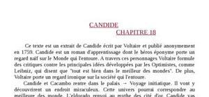 Analyse Chapitre 18 de Candide