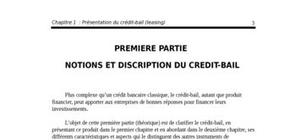 Présentation du crédit-bail (leasing)