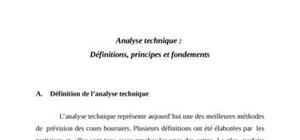 Analyse technique: définitions, principes et fondements