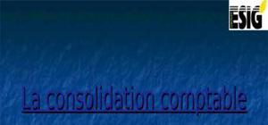 La consolidation comptable