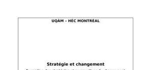 Stratégie et changement