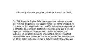 L'émancipation des peuples colonisés après 1945