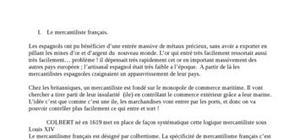 Le mercantilisme français