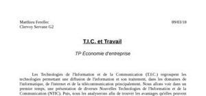 Les technologies de l'information et de la communication