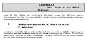 Structure de la comptabilité nationale