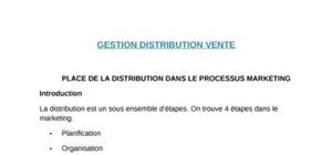 Gestion de  distribution