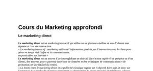 Informations sur le marketing direct