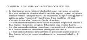Le bilan financier ou l'approche liquidité