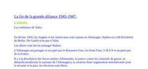 La fin de la grande alliance 1945-1947
