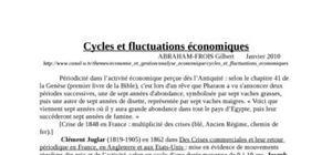 Cycles et fluctuations économiques