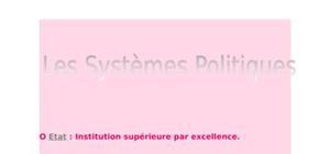 Les grands systèmes politiques