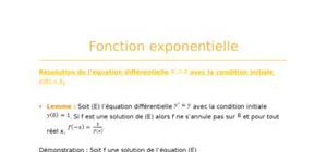 Fonction exponentielle