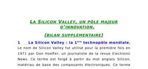 La silicon valley, un pôle majeur d'innovation.