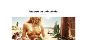Analyse sémiologique - publicité perrier 2009