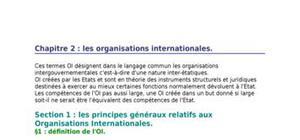 Chapitre 2 : les organisations internationales.