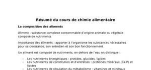 Chimie alimentaire