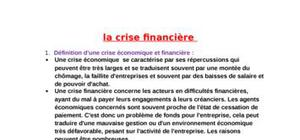 La crise financiere 2008/2009