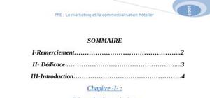 Le marketing et la commercialisation hôtelier