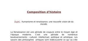 Composition d'histoire