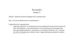 Approche psychosociologique de la communication