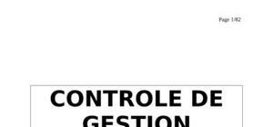 Controle de gestion final2: utilisation du contrôle de gestion dans les organisations