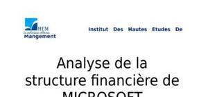 Analyse de la structure financière de microsoft