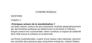 L'économie mondiale