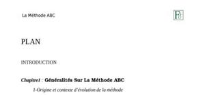 Comptabilité analytique abc