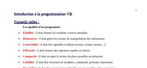 Introduction à vb.net